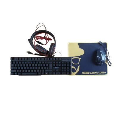 Andowl Q-JP004 Gaming Combo 4 In 1 RGB Keyboard Mouse Mouse Pad Headset Αγγλικό US